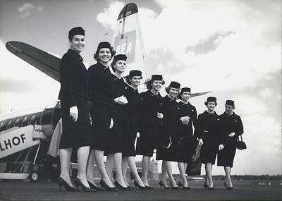 New Uniforms For Bea-stewardesses Poster by Retro Images Archive