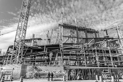 Minnesota Vikings U S Bank Stadium Under Construction Poster by Jim Hughes