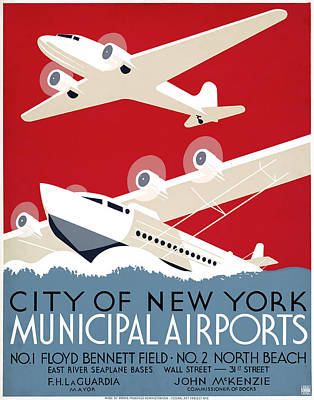 New York Airports, C1936 Poster by Granger