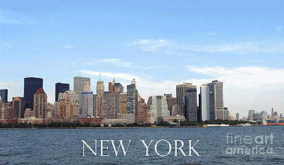 Poster featuring the photograph New York As I Saw It In 2008 by Ausra Huntington nee Paulauskaite
