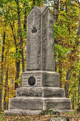 New York At Gettysburg - Monument To The 64th Ny Volunteer Infantry In The Rose Woods Poster by Michael Mazaika