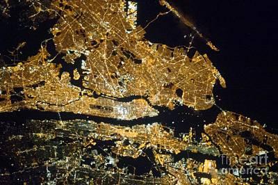 New York At Night, Iss Image Poster by Nasa