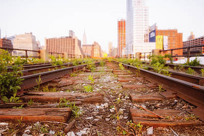 New York City - Abandoned Railroad Tracks Poster by Vivienne Gucwa