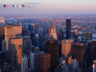 New York City At Dusk Poster