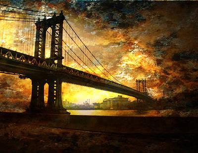 New York City Bridge Poster