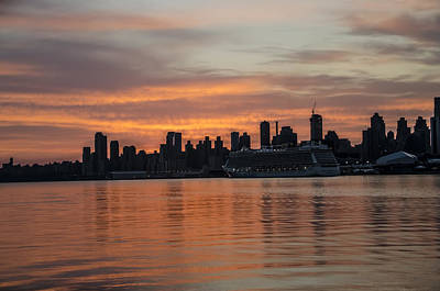 New York City - Colorful Sunrise Poster by Bill Cannon