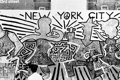 New York City Graffiti Poster by Dave Beckerman