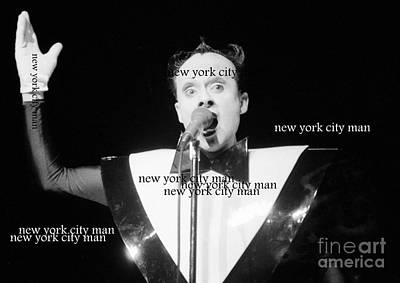 New York City Man Poster by Steven Macanka