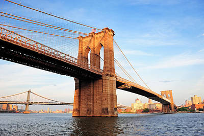 New York City Manhattan Brooklyn Bridge Poster