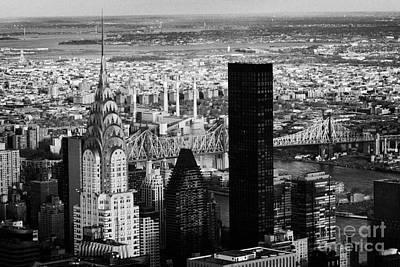 New York City Skyline Chrysler Building Trump Tower Queens Poster by Joe Fox