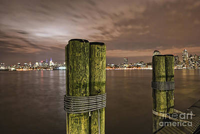 New York City Skyline From New Jersey Pier Usa Poster