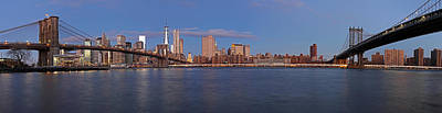 New York City Skyline Panorama Poster by Juergen Roth