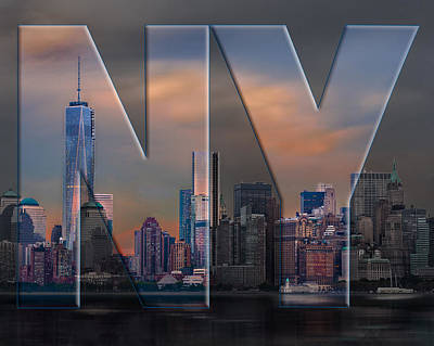 Poster featuring the photograph New York City Skyline by Steve Zimic