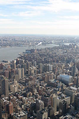 New York City - View From Empire State Building - 121221 Poster
