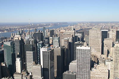 New York City - View From Empire State Building - 12128 Poster by DC Photographer