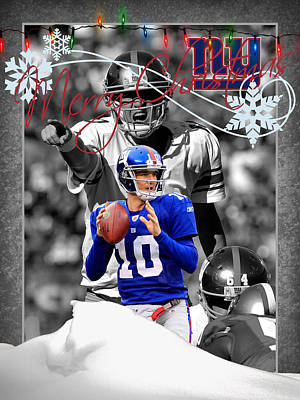 New York Giants Christmas Card Poster