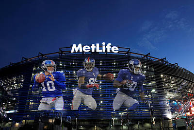 New York Giants Metlife Stadium Poster by Joe Hamilton