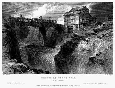Poster featuring the painting New York Glens Fall, 1839 by Granger