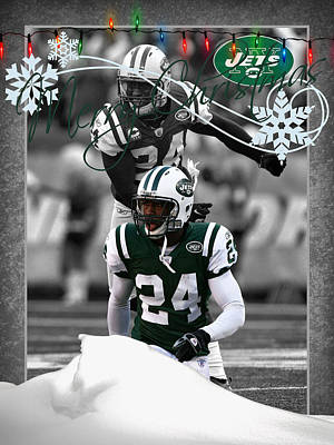 New York Jets Christmas Card Poster