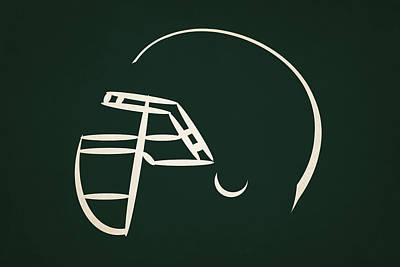 New York Jets Helmet Poster by Joe Hamilton