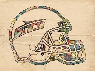 New York Jets Poster Art Poster by Florian Rodarte
