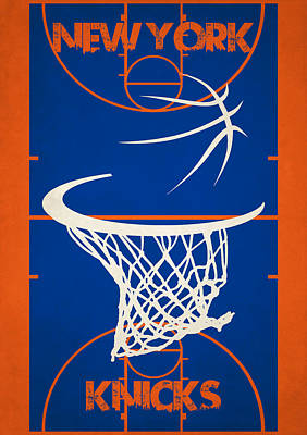 New York Knicks Court Poster by Joe Hamilton
