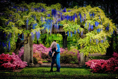 Poster featuring the photograph New York Lovers In Springtime by Chris Lord