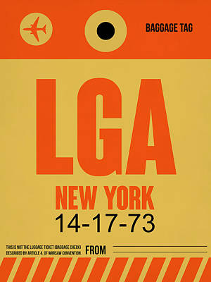 New York Luggage Poster 1 Poster by Naxart Studio