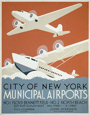 New York Municipal Airport Poster