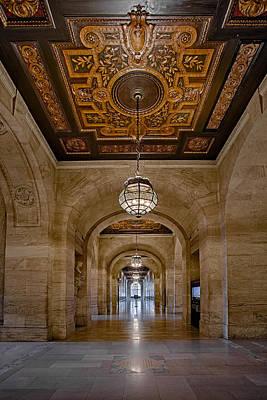 New York Public Library Corridor Poster