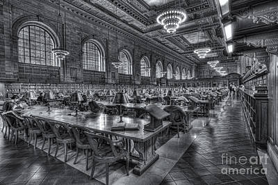 New York Public Library Main Reading Room V Poster