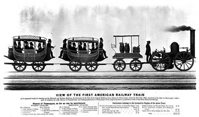 New York Railroad, 1832 Poster by Granger