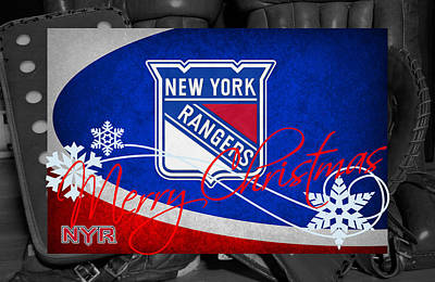 New York Rangers Christmas Poster