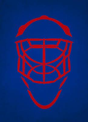 New York Rangers Goalie Mask Poster by Joe Hamilton