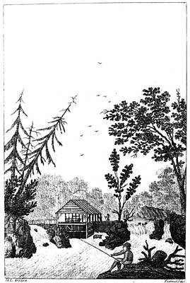 Poster featuring the painting New York Saw Mill, 1792 by Granger