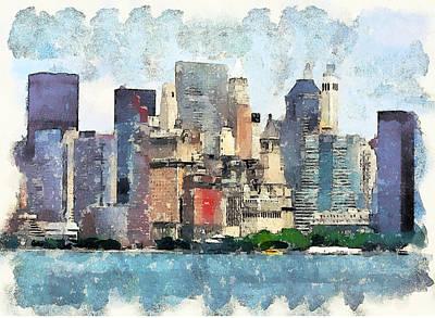 New York Skyline 2 Poster by Yury Malkov
