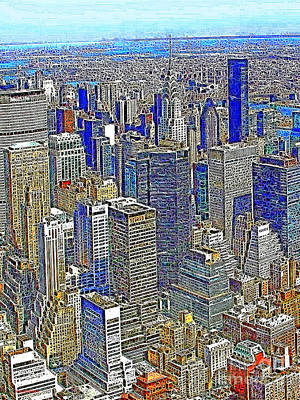 New York Skyline 20130430v2 Poster by Wingsdomain Art and Photography