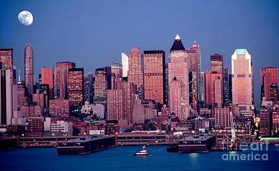 New York Skyline At Dusk Poster