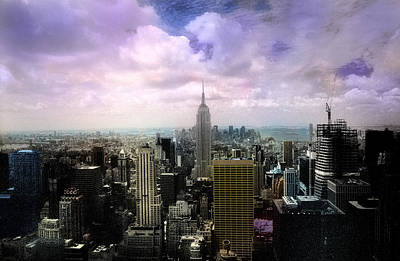 Poster featuring the photograph New York City Skyline - Infrared - Color by Dave Beckerman