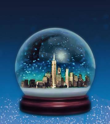 New York Snow Globe Poster