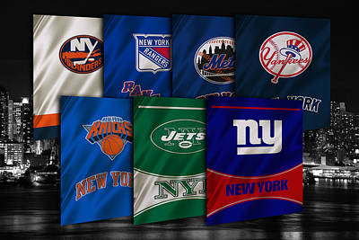 New York Sports Teams Poster by Joe Hamilton