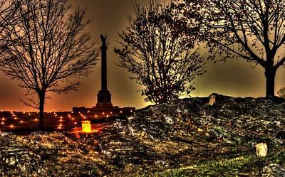 New York State Monument-b1 Antietam National Battlefield Memorial Illumination Poster by Michael Mazaika