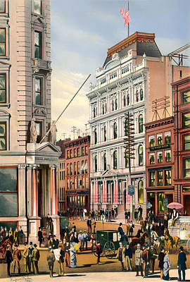 New York Stock Exchange 1882 Poster by Mountain Dreams