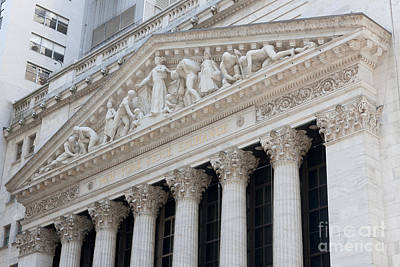 New York Stock Exchange I Poster by Clarence Holmes