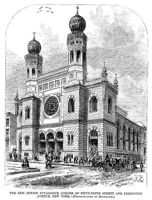 New York Synagogue, 1872 Poster by Granger