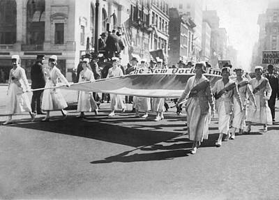 New York Times Flag In Parade Poster
