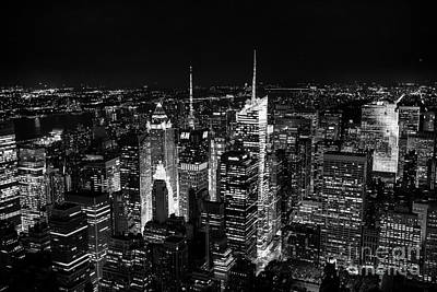 New York Times Square Bw Poster by Matt Malloy