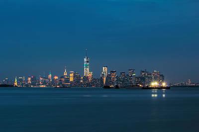 New York Twilight Poster by Jonathan Davison