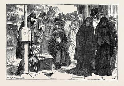 New York Veils, 1870 Poster