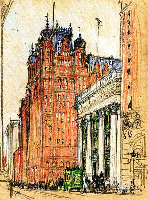 New York Waldorf Astoria Hotel 1904 Poster